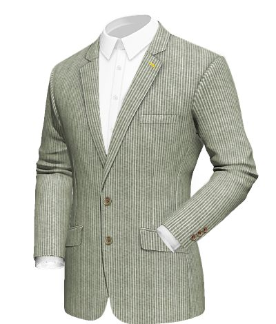 Vardal: made of 100% linen, this vintage design gains strength thanks to the yellow threads of the lapel eyelet. Fabric Choice: Verdun  http://www.tailor4less.com/en/collections/custom-jackets/breeze/vardal