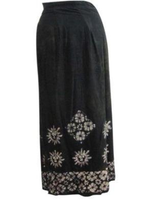 Amazon.com: длинная Черная юбка, женщин-юбка батик Цветочный печать вискоза обернуть вокруг юбки: одежда mogulinteriordesign
