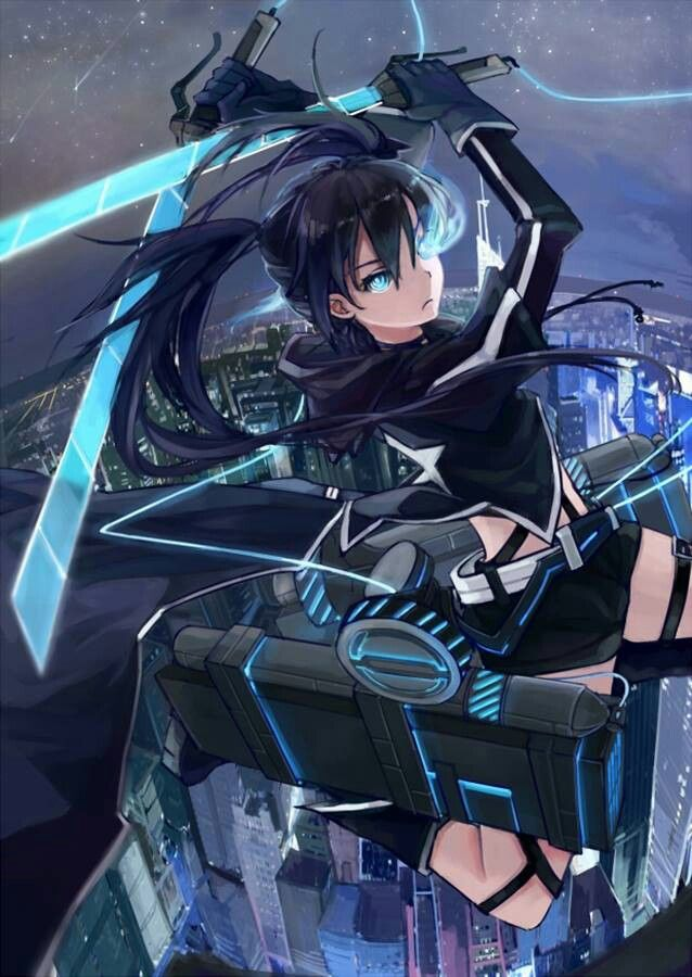 Black rock shooter and attack on titan crossover #anime #manga
