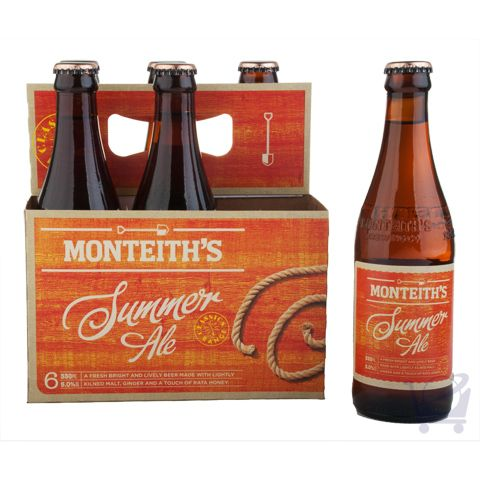 Summer Ale 330ml – Monteith's 6 bottles | Shop New Zealand