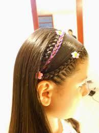 peinados infantiles con cintas ile ilgili görsel sonucu