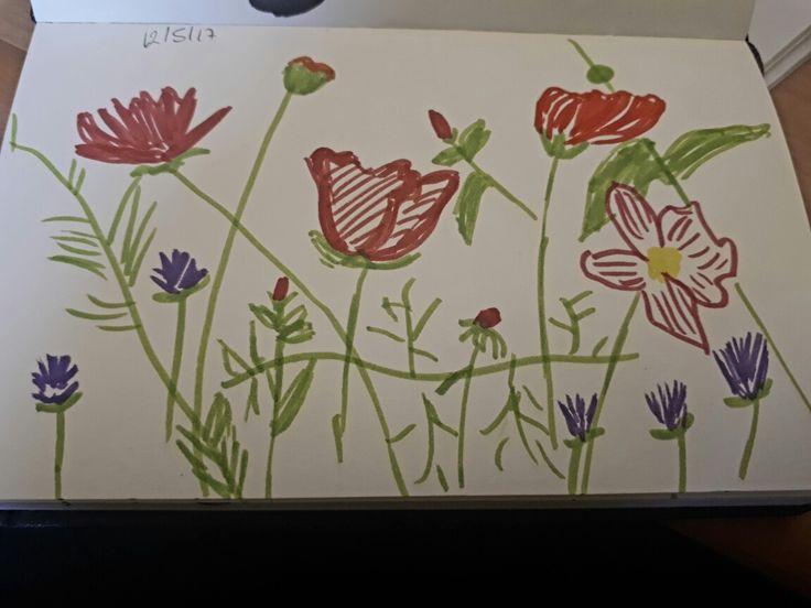 A quick flower sketch