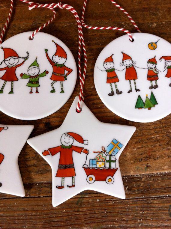 décoration Noël décoration sapin par unehistoiredefamille sur Etsy