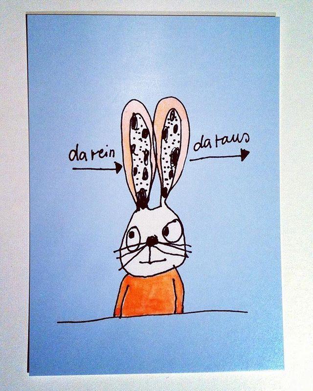 Der Hase auf der Postkarte hier möchte nicht wahr haben, dass bald Ostern ist und hört einfach nicht zu! #postkarte #hase #dareindaraus #ostern #hasenpost #hasenohren #ostern2016 #nichtwahrhabenwollen #geschenkidee #gift  #prenzlauerberg #prenzlberg #berlin #post #karte #karindrawings