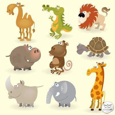 Caricaturas de animales en vector (Cartoon Vector Animals)