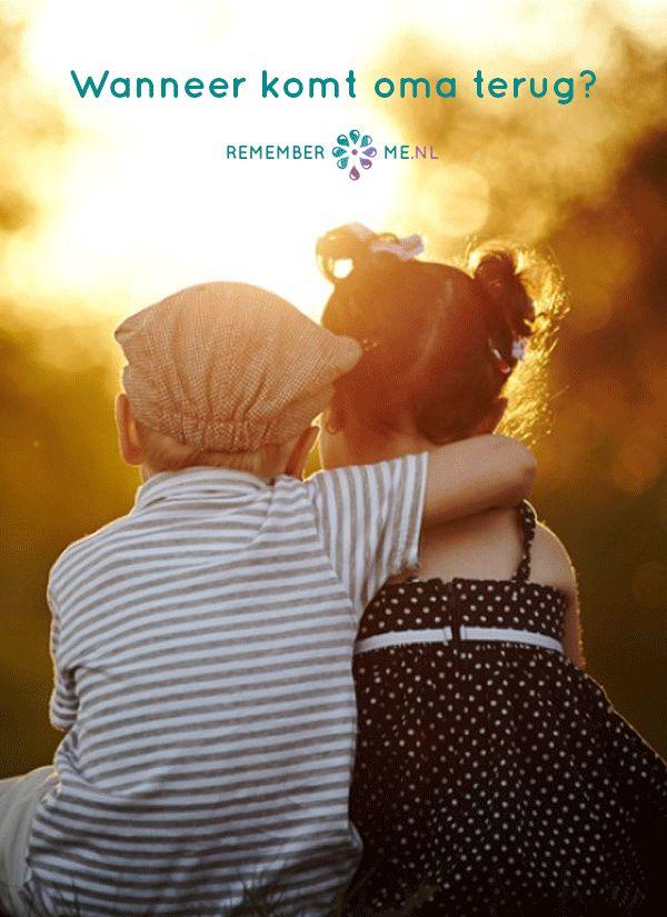 Kinderen kunnen bij een overlijden met vragen zitten. Lees op RememberMe.nl hoe je hier mee kunt omgaan: http://www.rememberme.nl/wanneer-komt-oma-weer-terug/ | Vind meer inspiratie over het afscheid, de uitvaart en het rouwen op http://www.rememberme.nl