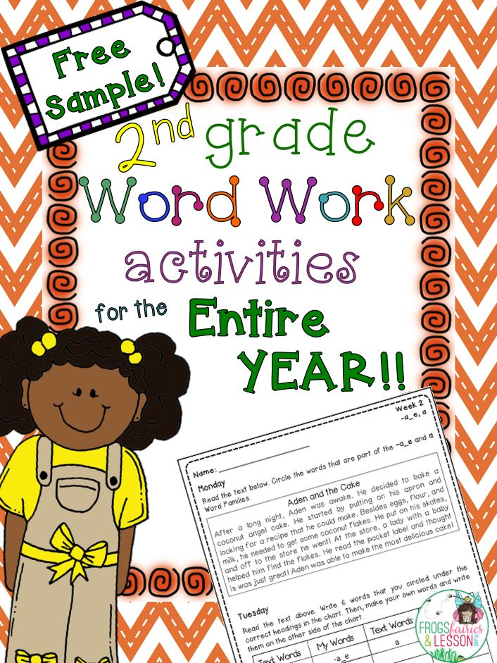 2nd Grade Word Work activities with short stories, sorting, identifying, sentence writing, and more! Click on the link to download 2 FREE weeks!