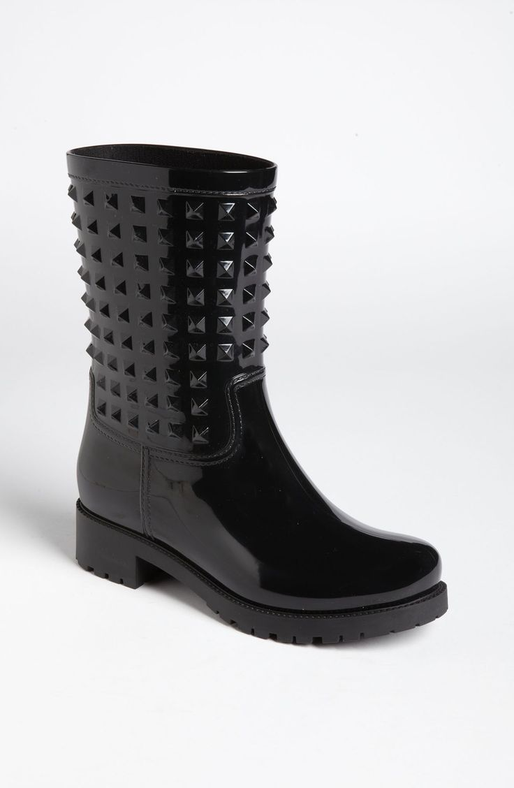 Valentino 'Rockstud' Rain Boot (Women)   Nordstrom