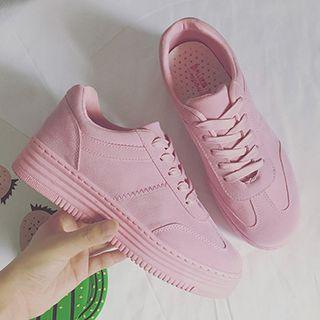 5b8bb327fda Buy SouthBay Shoes Plain Platform Sneakers