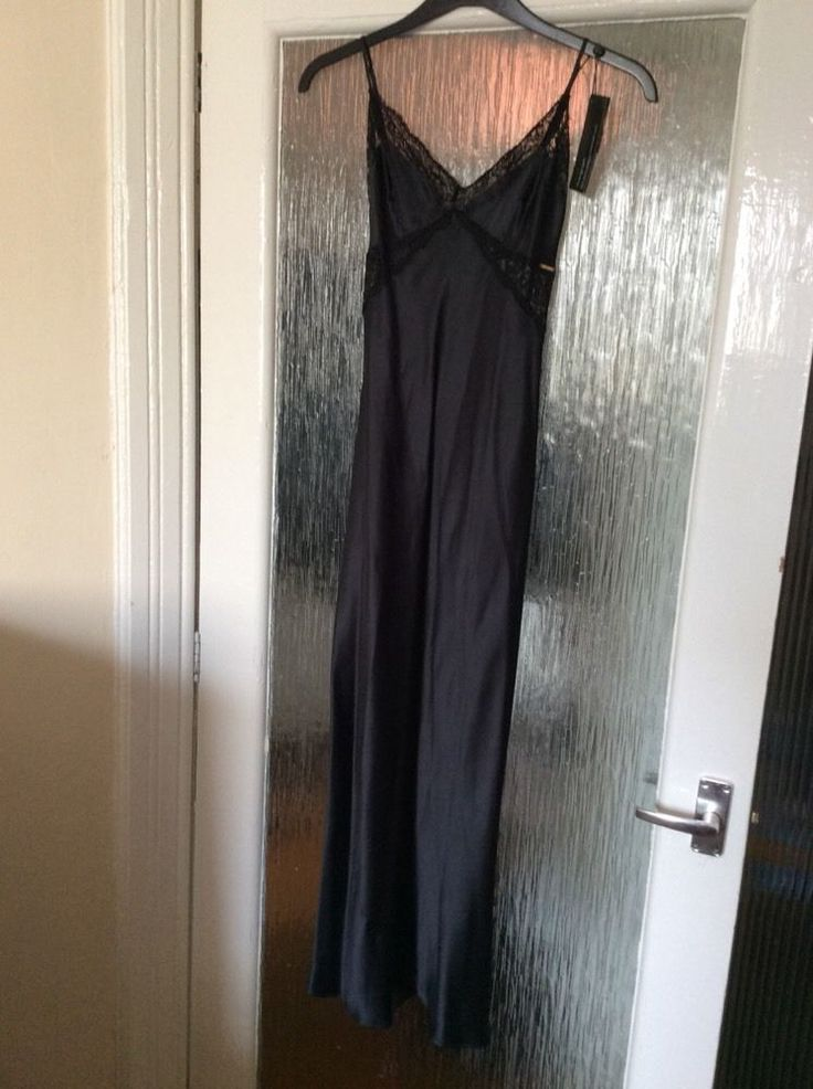 M&S ROSIE AUTOGRAPH ladies LONG night dress 100%SILK with French Lace UK18 BNWT
