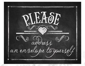 Printable Chalkboard sign PLEASE ADDRESS an by PSPrintables, $3.00