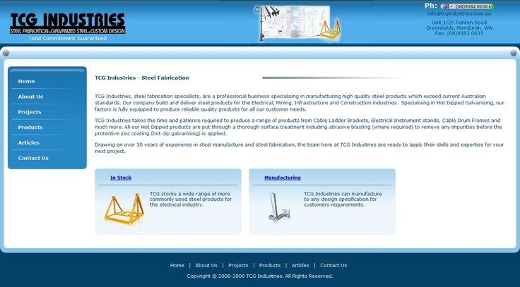 TCG Industries www.tcgindustries.com.au