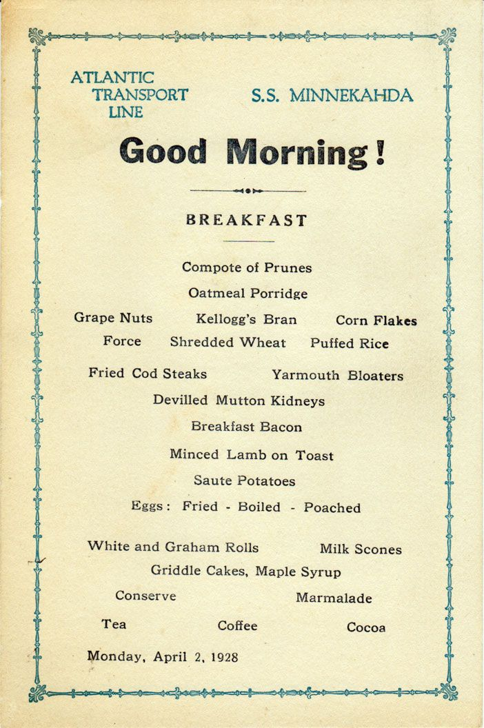 17 Best Images About Vintage Menus On Pinterest