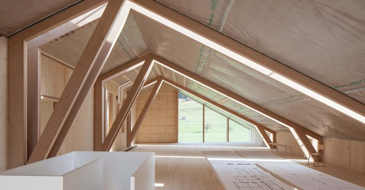 "Joinery firm Anton Mohr won the ""Vorarlberger holzbau_kunst"" timber construction award for the design of its imaginative yet understated timber structure. #construction #timber #baubuche #inspire #pollmeier"