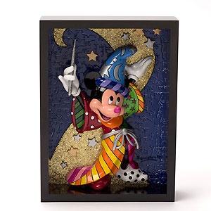 Mickey Mouse - Sorcerer Mickey Pop Art Block - Magic Is All Around - Britto - Romero Britto - World-Wide-Art.com - $120.00