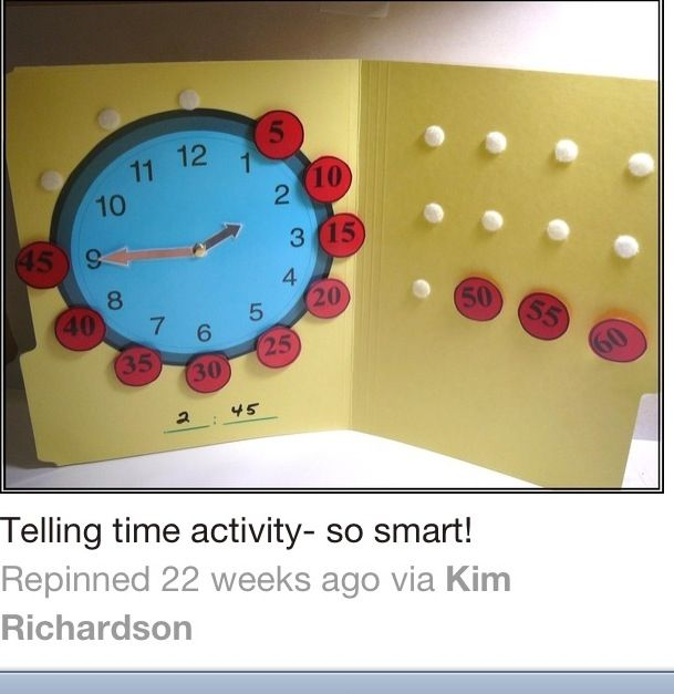 Telling Time... Would add minute dashes.