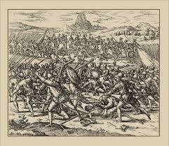 281 – (1542 - 16 de Septiembre) Batalla en las llanuras de Chupas. Derrota de Diego de Almagro El Mozo en cruenta batalla por las fuerzas del gobernador Vaca de Castro, quedan en el campo de batalla más de mil muertos. Al día siguiente son ahorcados en el Cusco más de cuarenta partidarios de Almagro. Inés Muñoz se muestra muy afectada por estos sucesos donde fallecen varios de sus conocidos, su piedad y devoción son más fuertes que sus deseos de venganza.