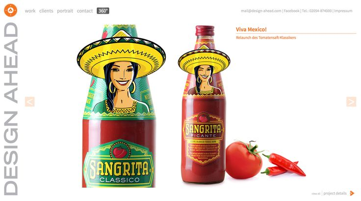 Packaging Relaunch von Sangrita