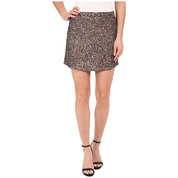 Billabong Showin Off Skirt Women's Skirt ($100) ❤ liked on Polyvore featuring skirts, mini skirts, short skirts, billabong skirt, short sequin skirt, sequin mini skirt and straight skirt
