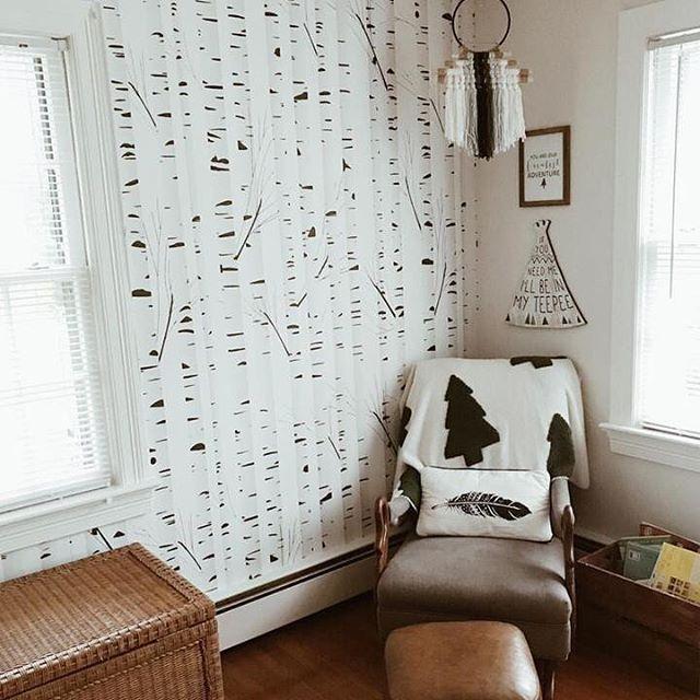 Modern Nursery Wallpaper: Cozy Woodland Vibes In This Sweet Modern Nursery. In 2019