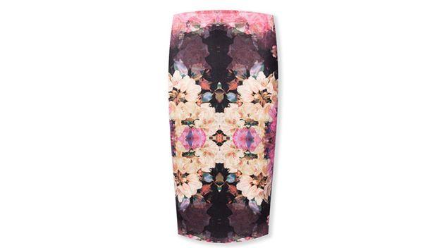 Falda midi estampado arty de Mercado de Fuencarral