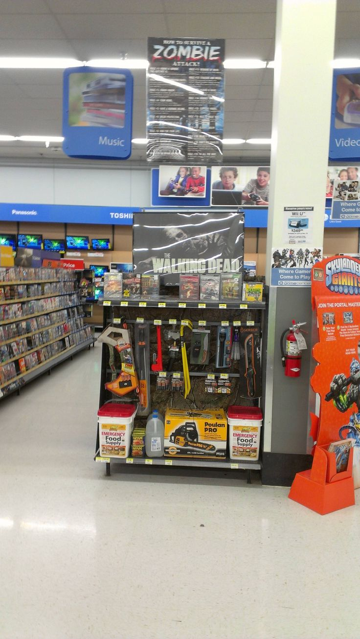 Walmart understands how important Zombie survival gear really is!