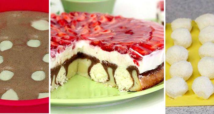"""Skvelo vyzerajúci a veľmi chutný koláčik """"Ranná rosa"""" s fotopostupom na prípravu. Zvládne to aj začiatočník, tak neváhajte a pusťte sa do toho!"""