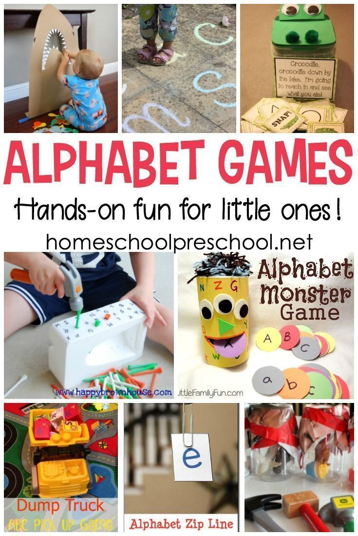 14 Amazing Hands-On Alphabet Games for Preschoolers
