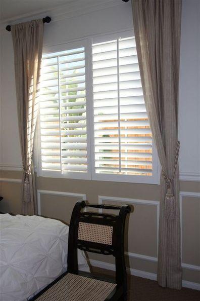 1000 ideas about plantation shutter on pinterest for Shutter window treatment ideas
