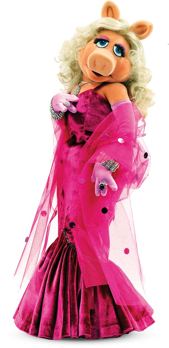 The elegantly beautiful diva, Miss Piggy, of the Muppets.  She always knows how to dress so stylish and chic!