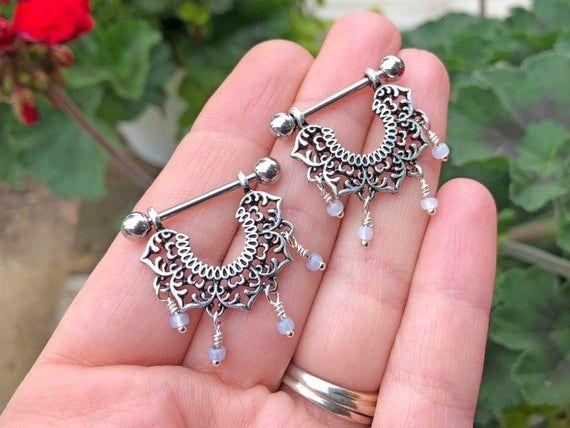 Victorian style 1.60cts rose cut uncut polki diamond sterling silver wedding tear drop earrings