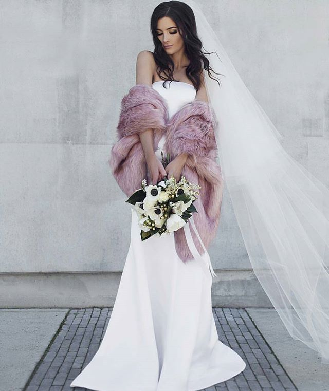 Sadie Faux Fur Shawl Winter Wedding Dress Wedding Dresses