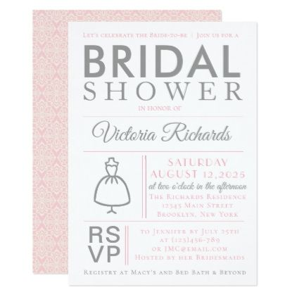 Chic Bride Wedding Bridal Shower Invitation - chic design idea diy elegant beautiful stylish modern exclusive trendy