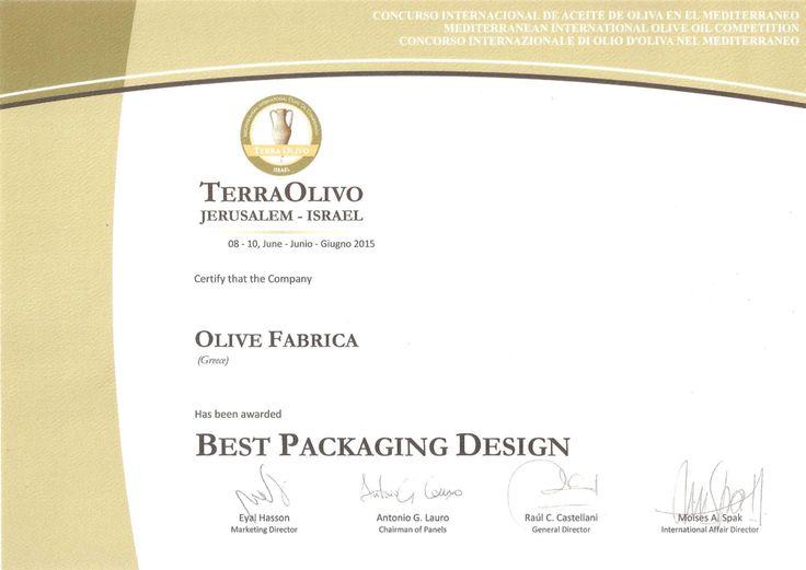 Terra Olivo Israel 2015....Best Packaging Design...
