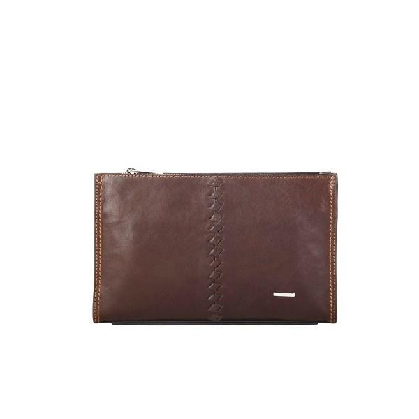 Best Leather Men Wristlets Wallet In Brown - Men Bags - handbag shop