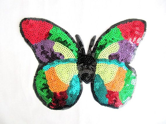 Colorful Butterfly/Sequin Butterfly Applique /DIY Craft/ Butterfly…