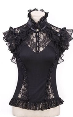 RQBL Gothic Black Steam Top