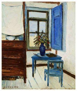 Carlos Botelho (Portugal, 1889-1982) - Interior (1937)