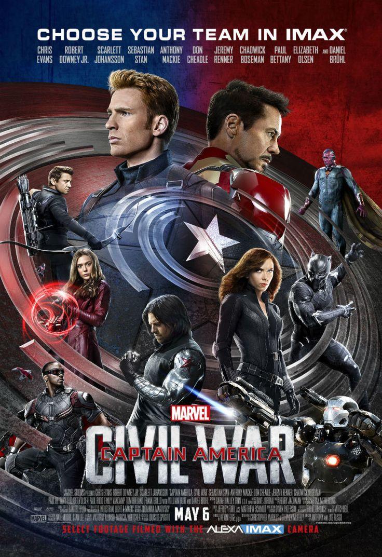Captain America: Civil War : le vertigineux poster IMAX