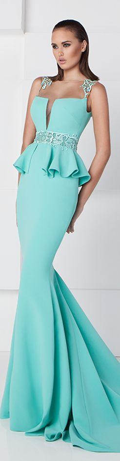 Saiid Kobeisy SS 2016 blue dress maxi  women fashion outfit clothing style apparel @roressclothes closet ideas