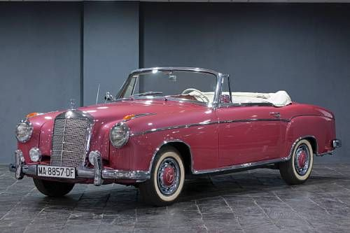 1957 Mercedes-Benz 220S Cabriolet. Chassis no. 180 030-750 3673. . @designerwallace