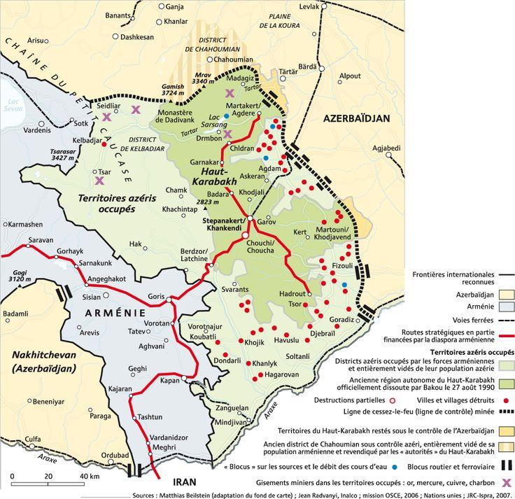 Resultat d'imatges de nagorno karabakh map