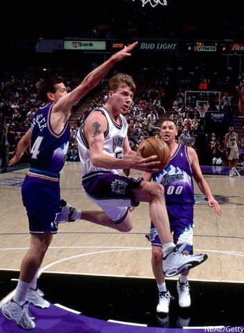 """Jason Williams AKA """"White Chocolate"""" his handle, moves and passes were among the best ever"""