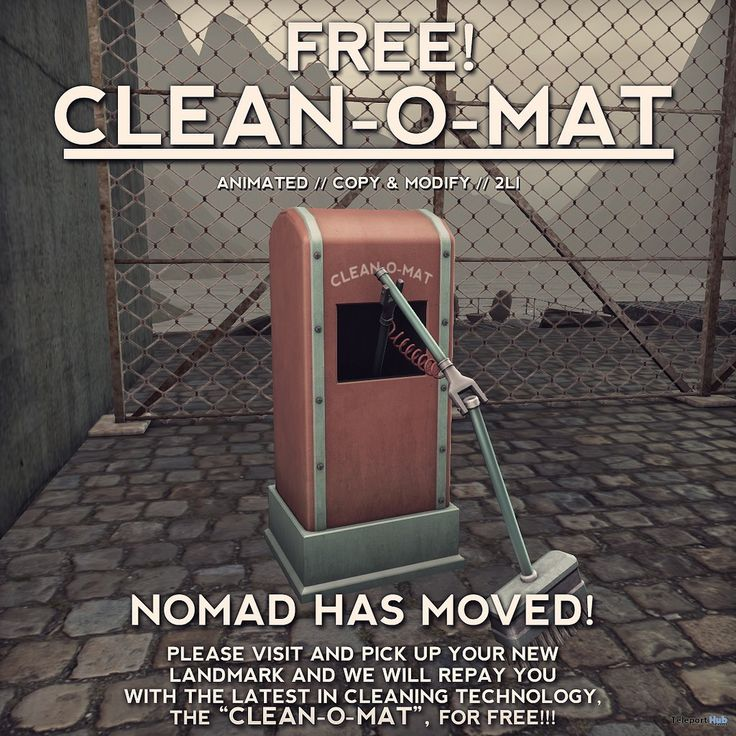 Clean-O-Mat Animated Robot Store Moving Gift by NOMAD