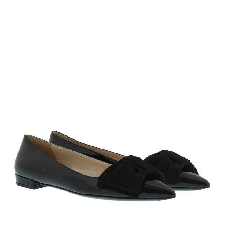 Prada Prada Ballerinas – Calzature Donna Ballerina Vernice Nero – in schwarz – Ballerinas für Damen