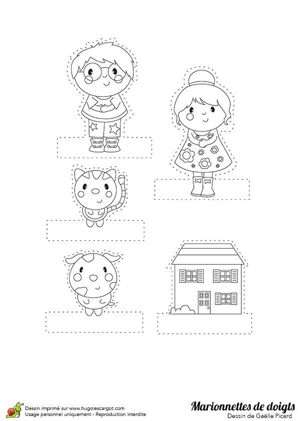 17 meilleures id es propos de marionnettes doigts sur pinterest activit s simples pour - Marionnettes a doigts a imprimer ...