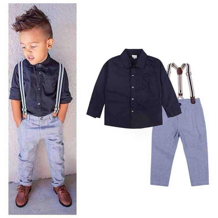 New gentle baby boy t shirt suspender trousers overall