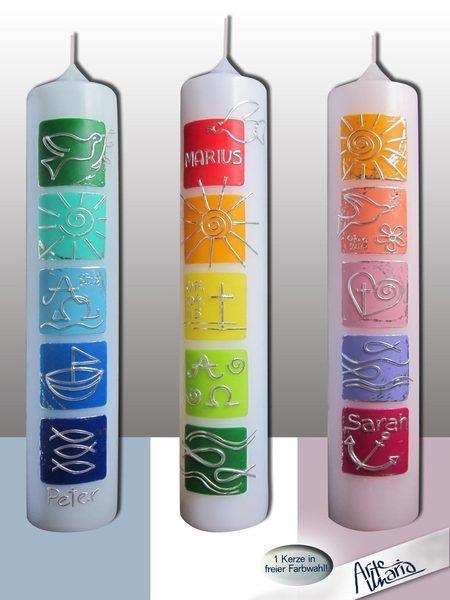 """Fröhlich und farbenfroh - das ist meine Farbwelt :)  Damit Deine Kerze noch individueller wird, biete ich hier zur freien Auswahl bzw. """"Mischung"""" d..."""