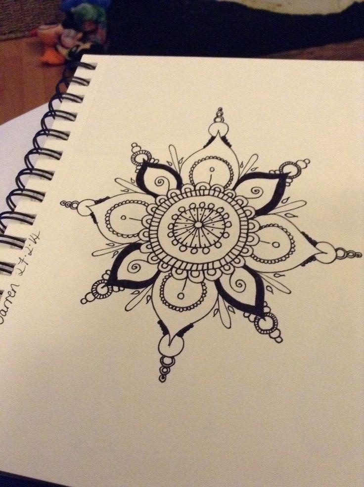 Tattoo Type Mehndi : Quickie mandala type doohickey ink lotus