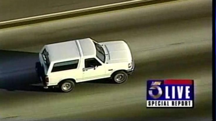 Archive video: O.J. Simpson pursued by police during infamous Bronco chase